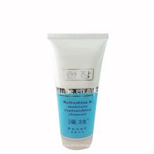 tubo facial de limpieza de tubo de crema facial plana ovalada
