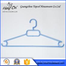 Großhandel bunte billige Kunststoff Kleiderbügel mit Haken