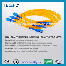 Sc Patch Cord, Sc Cable de fibra óptica Patch, Sc Cable óptico