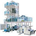 Co-extrusión de tres capas de refrigeración interna de burbujas de recogida de película rotativa de línea de productos pequeña máquina de moldeo por inyección de plástico