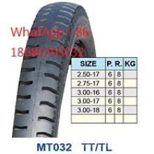 Neumático de la motocicleta 2.50-17 2.75-17 3.00-16 3.00-17 3.00-18