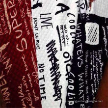 Gesteppter, bedruckter Stoff aus 100% Polyester-Jacquard
