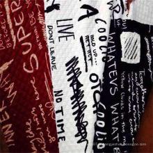 Tissu tricoté matelassé jacquard 100% polyester