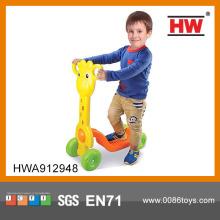 Детский педальный пластиковый автомобиль скейт скутер для детей