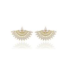 91903 fan de mode xuping en forme de design doré zircon doré pavé de boucles d'oreilles pour dames