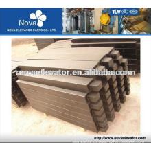 Piezas de elevador, hierro y contrapeso compuesto para elevación