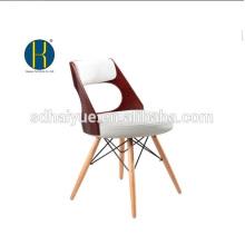 2017 высокого качества коричневый живописи столовая мебель, твердые деревянные ноги