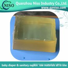 Высокое качество пеленки горячего расплава клея клей с SGS (АДЖ-026)
