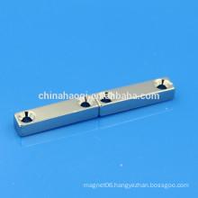 double countersunk hole NdFeB neodymium nicuni magnet