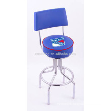 Promotion Chrome Plated Swivel Synthetic Leather used commercial bar stools