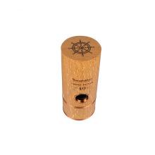 caja de regalo de vino de tubo redondo de madera
