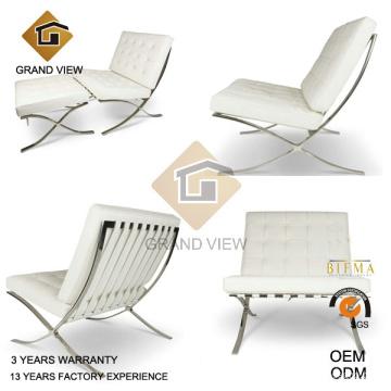 Chaise de loisirs en cuir blanc (GV-BC02)