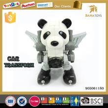 Car transform robot toy panda electric car