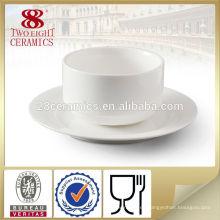 Vajilla japonesa, plato de sopa de cerámica chino blanco liso