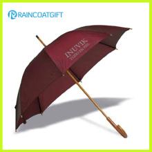 Manueller offener gerader hölzerner Regenschirm für Förderung