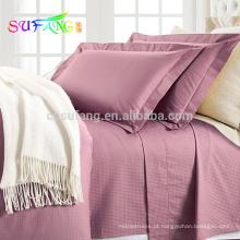 Conjunto de cama de qualidade de algodão egípcio do produto OEM contagem de 1800 fio
