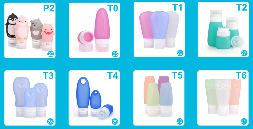 Silicone Travel Bottles