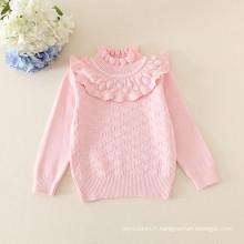 chandail de filles de bébé / pull d'hiver de filles d'enfants / chemise de descente 5 couleurs