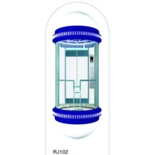 U-Shape Panoramic Passenger Elevator with Glass Cabin