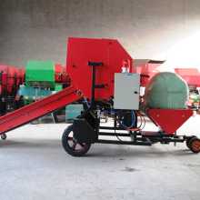 Semi-Automatic bale machine for dairy feed