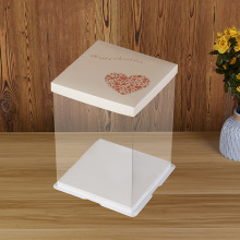 Plastic pvc packing box for cake