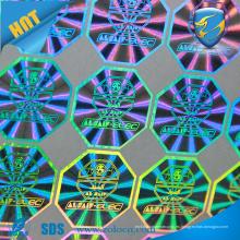 Haga etiquetas engomadas holográficas de la hoja, etiqueta engomada de la hoja del arco iris