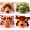 Coral Fleece 3D Animal Design Blanket and Cushion Pet Blanket Pet Cushion Multi-Functional