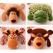 Coral Fleece 3D Animal Design Couverture et coussin Pet Blanket Pet Cushion Multi-Functional