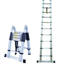 2.6m 3.2m 3.8m 4.1m 4.4m adjustable telescopic ladders aluminium