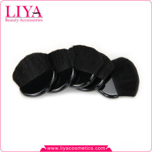 Free sample black natural goat hair makeup half moon brush with custom logo