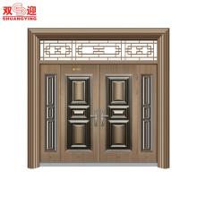 Porte en acier non-standard d'entrée de Villa de style chinois de luxe - Entrée personnalisée de la RÉUNION