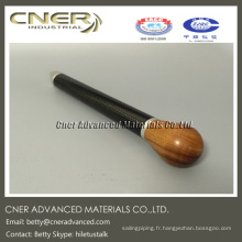 Tube de fibre de carbone d'armure de 100% pour la clé de tempérament de piano, clé d'accord de piano de fibre de carbone fabriquée en Chine