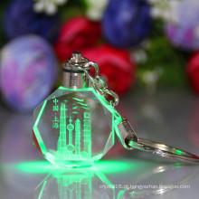Requintada venda quente com cor diferente e tamanho de cristal chaveiro
