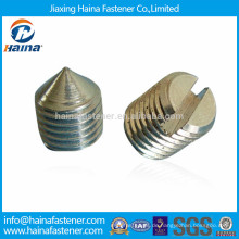 DIN553, ISO7434 Carbonstahl Schlitzschrauben mit Kegelspitze