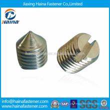 DIN553, parafusos de fixação ranhurados de aço carbono ISO7434 com ponto de cone