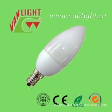 Vela forma CFL 5W (VLC-CDL-5W), lâmpada de poupança de energia
