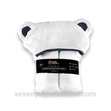Полотенце с капюшоном мальчик девочка полотенце-органических Ванна чистого бамбука очень впитывающие антибактериальные Пеленатель с медведем уши душа ребенка