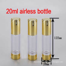 20ml Gold/Round/Empty/ Small Luxury Lotion Airless Pump Bottle