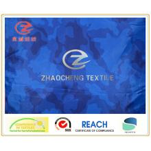 300t Poly Taffeta Dark Blue Desert Camouflage Printing Fabric (ZCBP130)