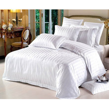 Cotton Jacquard /Satin Stripe Hotel Bedding Set