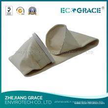 Sacs filtrants de feutre de sachet filtre de disposition de gaz de PPS