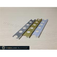 Alumínio borda reta trim em três cores populares