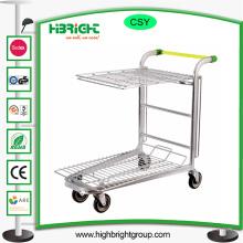 Chariot de stockage de cargaison d'entrepôt en métal