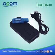 OCBS-B240: 2016 новый мини Bluetooth портативный ПЗС сканер штрих-кода с памятью