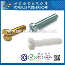 Taiwan Customized High Quality Stainless Steel Cheese Head Machine Screw DIN 84 Slotted Cheese Head Screws