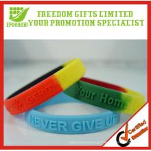 Qualidade superior personalizado logotipo mix colorido pulseira de borracha
