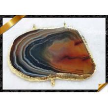 Fashion Jewelry Connector, Agate Bracelet Connetor ou Collier Pendant Wholesale (YAD006)