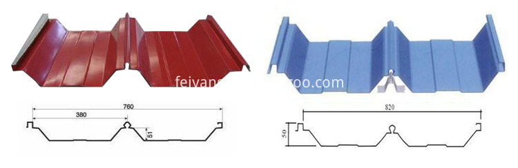 5 joint hidden roll forming machine