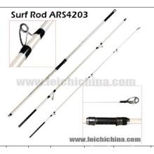 100-225g 2.9 tige de canne à pêche de surf de carbone d'action X-Fast de diamètre de pointe