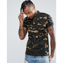 New Style Polo in Camo Fitted Cuffs